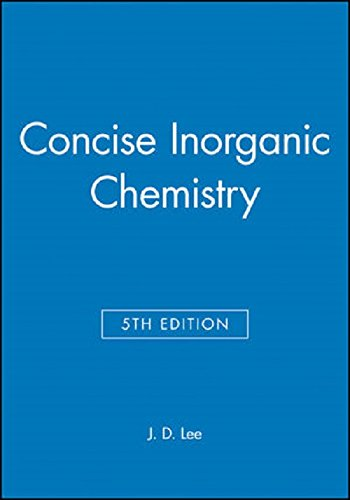 Concise Inorganic Chemistry By John D. Lee