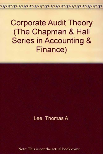 Corporate Audit Theory By Thomas A. Lee