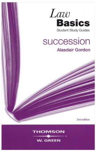 Succession LawBasics By Alasdair Gordon