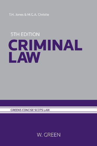 Criminal Law By Timothy H. Jones