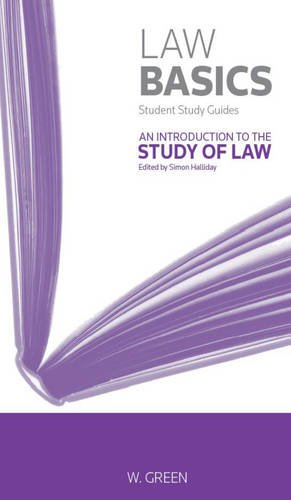 An Introduction to the Study of Law General editor Simon Halliday