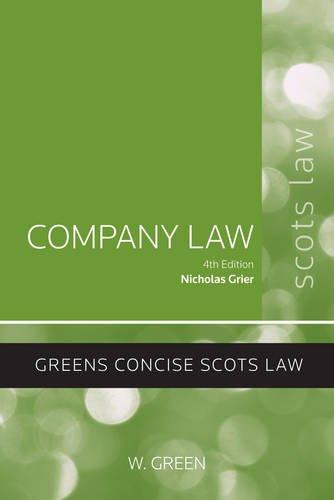 Company Law By Nicholas Grier