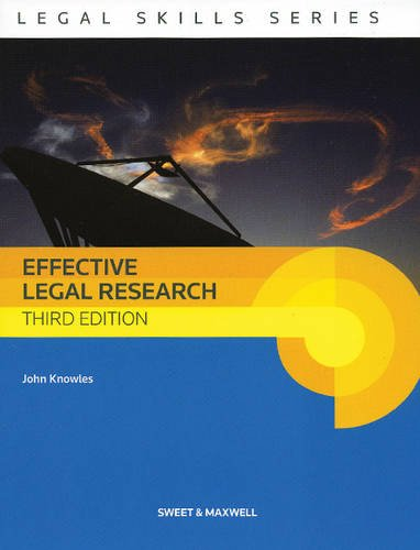 Effective Legal Research By John Knowles