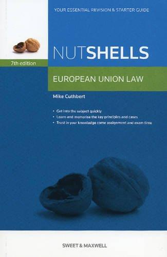 Nutshells European Union Law By Mike Cuthbert