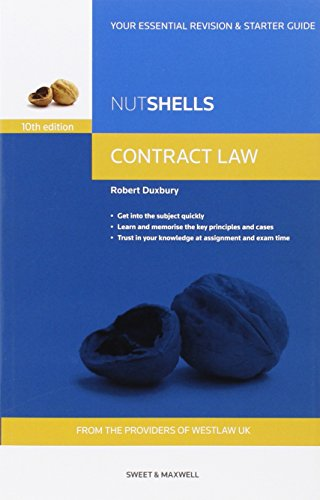 Nutshells Contract Law By Robert Duxbury