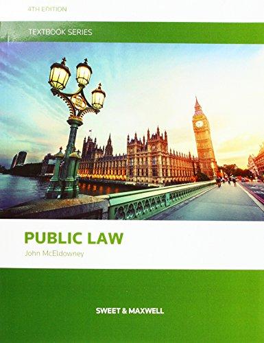 McEldowney: Public Law By John McEldowney