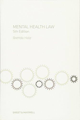 Mental Health Law By Brenda Hale