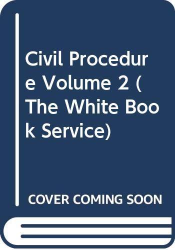 Civil Procedure Volume 2 (The White Book Service)