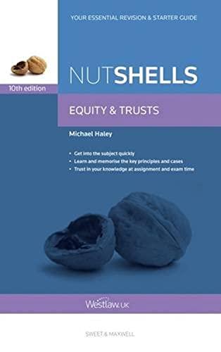Nutshells Equity & Trusts By Michael Haley