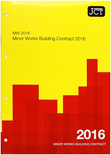 JCT:Minor Works Building Contract 2016 (MW) by