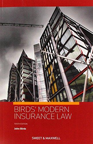 Birds' Modern Insurance Law By Professor John Birds