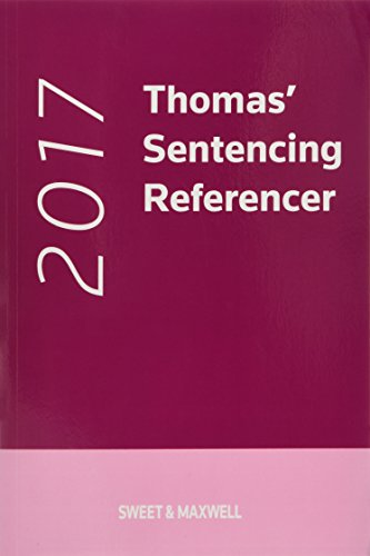 Sentencing Referencer 2017 By Other Nicola Padfield