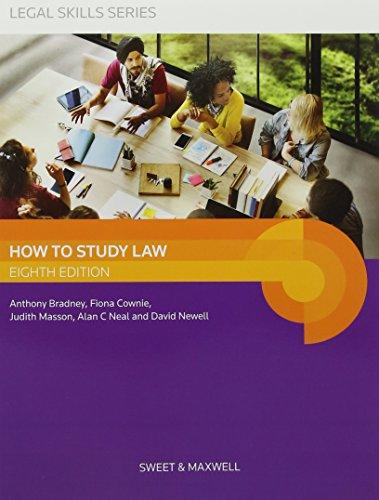 How to Study Law By Professor A. Bradney