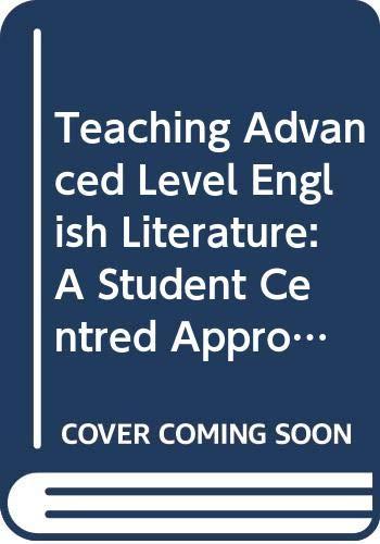 Teaching Advanced Level English Literature By John Brown