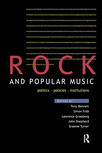 Rock and Popular Music By Edited by Tony Bennett