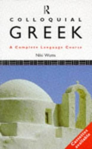 Colloquial Greek By Niki Watts