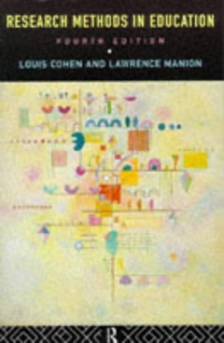 Research Methods in Education By Lawrence Manion