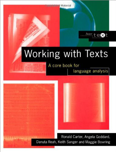 Working with Texts By Ronald Carter