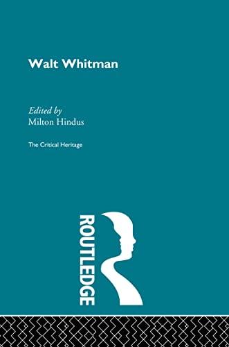 Walt Whitman By Milton Hindus