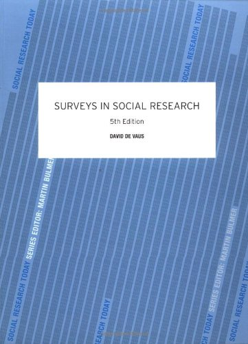 Surveys In Social Research By David De Vaus