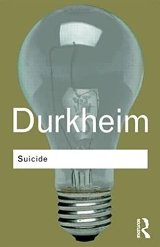 Suicide By Emile Durkheim