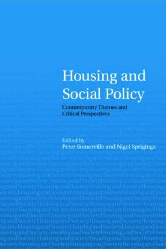 Housing and Social Policy By Edited by Peter Somerville (University of Lincolnshire and Humberside, UK)