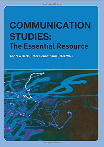 Communication Studies By Edited by Andrew Beck