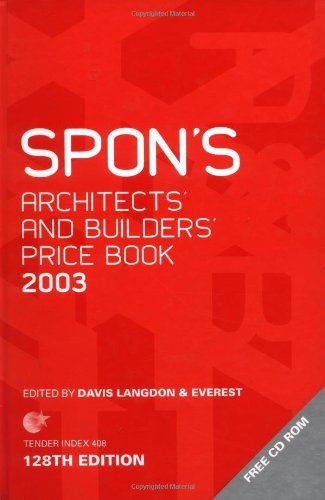 Spon's Architects' and Builders' Price Book 2003 By Langdon & Everest Davis