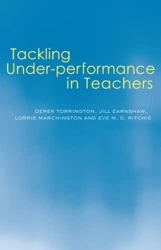 Tackling Under-performance in Teachers By Jill Earnshaw