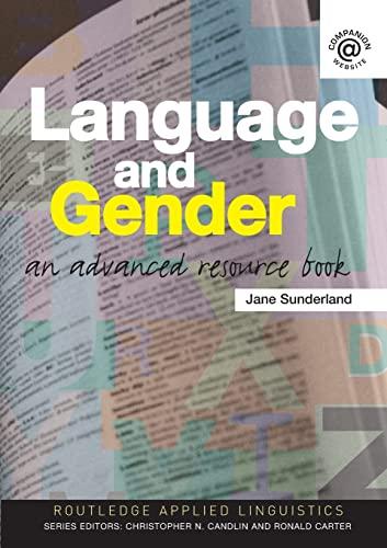 Language and Gender By Jane Sunderland (Lancaster University, UK)