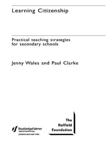Learning Citizenship By Paul Clarke