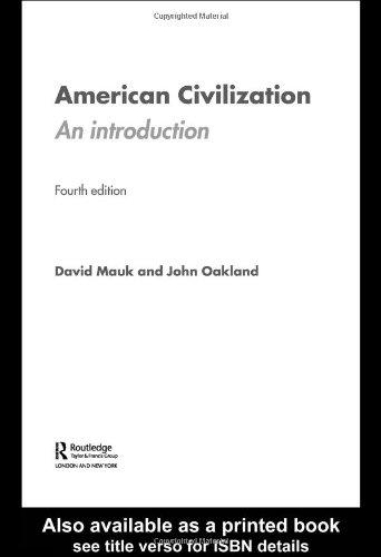 American Civilization By John Oakland