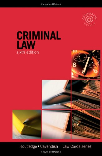 Criminal Lawcards by Routledge-Cavendish