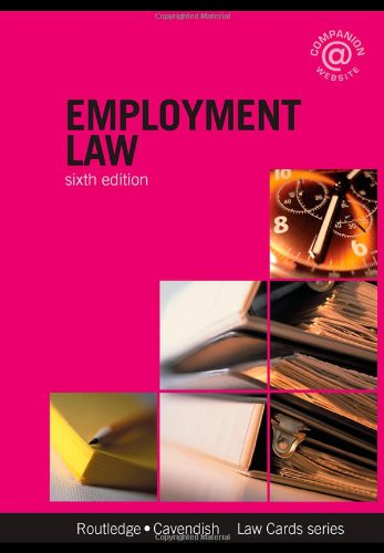 Employment Lawcards 6/e By Routledge