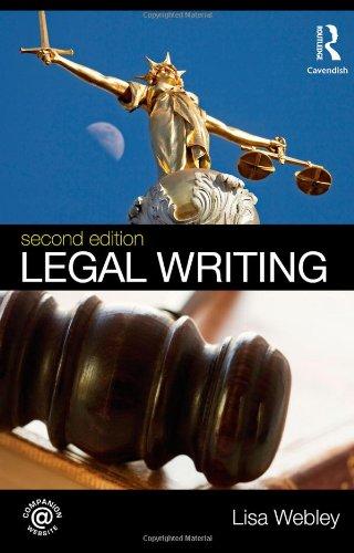 Legal Writing By Lisa Webley (University of Westminster, UK)