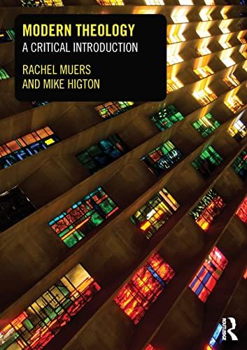 Modern Theology By Rachel Muers (University of Leeds, UK)