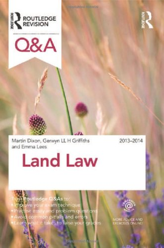 Q&A Land Law 2013-2014 (Questions and Answers) By Martin J. Dixon