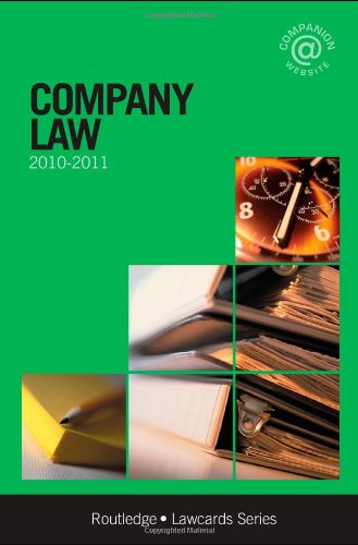 Company Lawcards 2010-2011 By Routledge