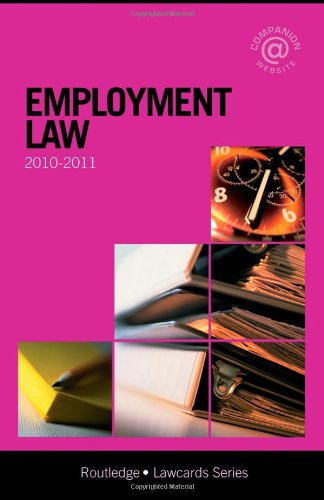 Employment Lawcards 2010-2011 By Routledge