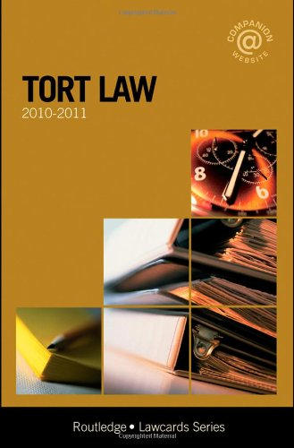 Tort Lawcards 2010-2011 By Routledge