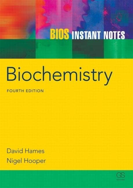BIOS Instant Notes in Biochemistry By Torsten Bert Moller