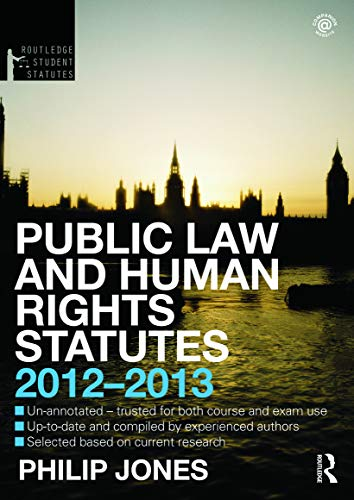 Public Law and Human Rights Statutes By Philip Jones