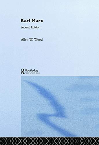 Karl Marx By Allen Wood