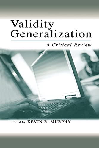 Validity Generalization By Kevin R. Murphy