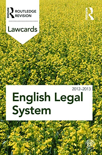 English Legal System Lawcards 2012-2013 By Edited by Routledge