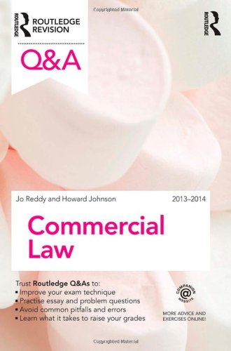 Q&A Commercial Law 2013-2014 (Questions and Answers) By Howard Johnson