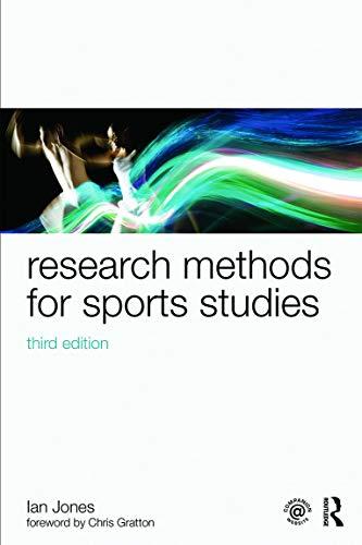 Research Methods for Sports Studies By Ian Jones