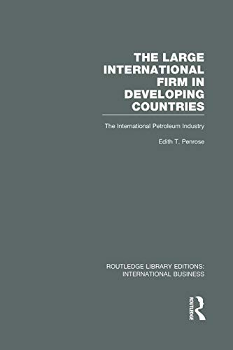 The Large International Firm By Edith Penrose