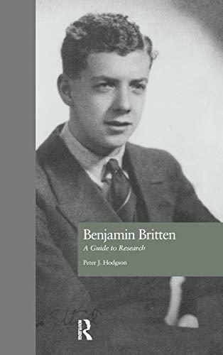 Benjamin Britten By Peter J. Hodgson