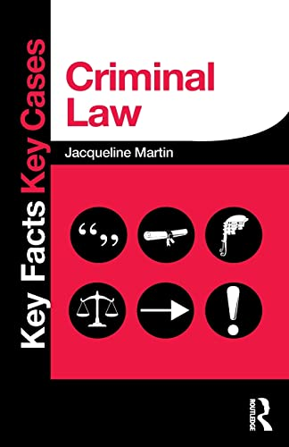 Criminal Law (Key Facts Key Cases) By Jacqueline Martin